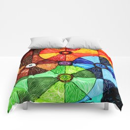 Earth Air Fire Water Ether Comforters