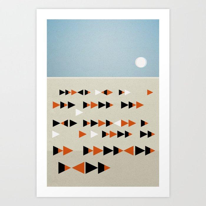 Gulf Flock Art Print