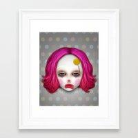 misfits Framed Art Prints featuring Misfits - Lulu by Raymond Sepulveda