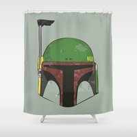 boba fett Shower Curtains featuring Boba Fett by Uglydooodles