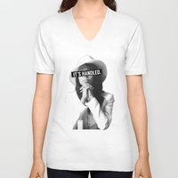 scandal V-neck T-shirts featuring Olivia Pope Scandal It's Handled by Zharaoh