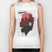 walking dead Biker Tanks featuring Walking Dead by SirGabi