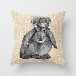King Carrot Throw Pillow