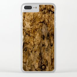 Rotten Wood Clear iPhone Case