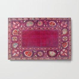 Shakhrisyabz  Southwest Uzbekistan Suzani Embroidery Print Metal Print