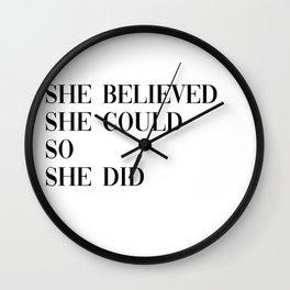 she believed Wall Clock