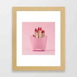 Finger fries Framed Art Print