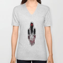 Demi-Lich Ghost Spectre Sprite Illustration Drawing Vector Unisex V-Neck