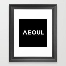 Seoul [Hangul] Framed Art Print