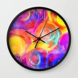 Swirly Watercolor Wash Wall Clock