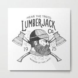 Lumberjack Metal Print