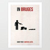 In Bruges Minimalist Poster Art Print