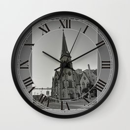 Detroit Architecture 1 Wall Clock