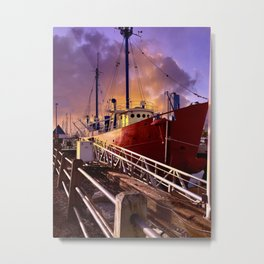 The Red Boat Metal Print