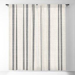 AEGEAN GREY STRIPE Blackout Curtain