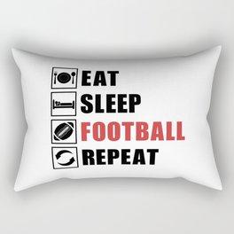 American Football Repeat Team Game USA Gift Idea Rectangular Pillow