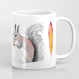 Leaf-Leaf-Squirrel-Leaf Coffee Mug