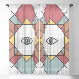 (Southwest) Fourth Eye - Wisdom Eye Sheer Curtain