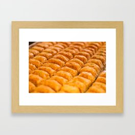 Turkish Pastries Framed Art Print