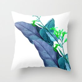 Leaf feathers Throw Pillow