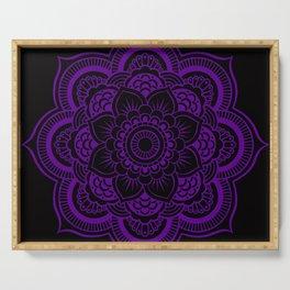 Deep Purple Mandala Serving Tray