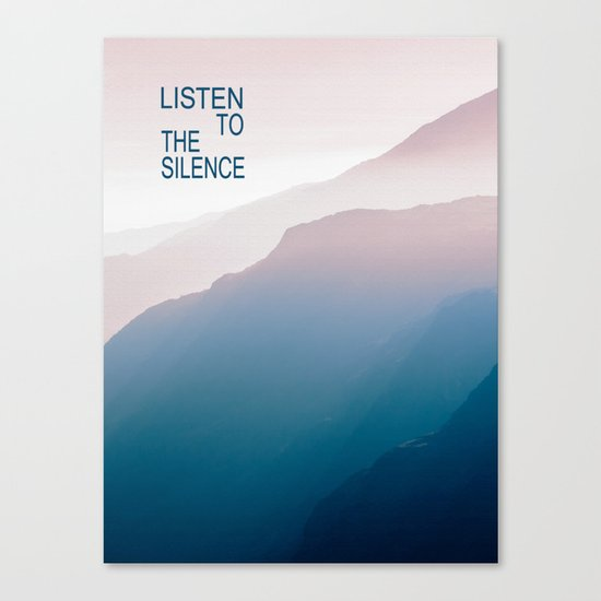Listen to the Silence #2 Canvas Print