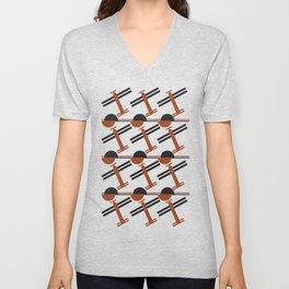 soviet pattern - constructivism Unisex V-Neck