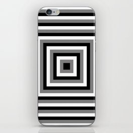 Black and White Squares iPhone Skin