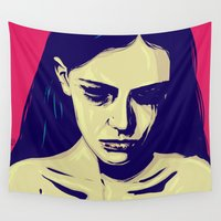 anxiety Wall Tapestries featuring Anxiety by Giuseppe Cristiano