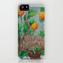 Keep Off iPhone Case