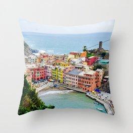 Cinque Terre Colors Throw Pillow