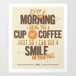 Richard Castle 'Always' Quote Art Print
