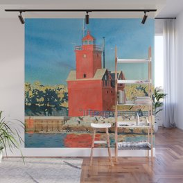 Holland Big Red Focus Wall Mural