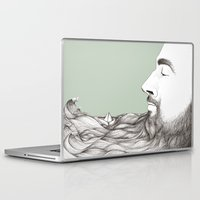 beard Laptop & iPad Skins featuring Beard  by Centprent