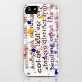 Color Definition iPhone Case