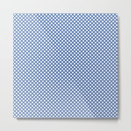 Deep Ultramarine  and White Polka Dots Metal Print