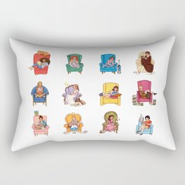 Reading fictional characters Rectangular Pillow