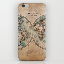 Vintage Map of the World 1800 iPhone Skin