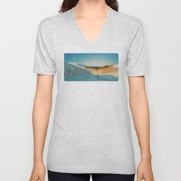 View from Esja to Walfjord - Iceland / Oil Painting Unisex V-Neck