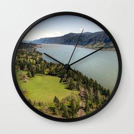 Columbia River Gorge Washington Wall Clock