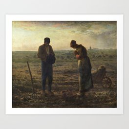 The Angelus by Jean Francois Millet Art Print