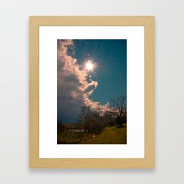 A Country Path Framed Art Print