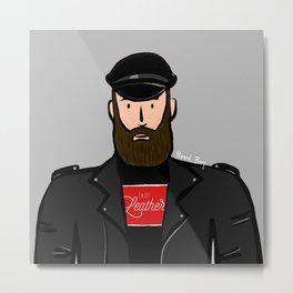 Beard Boy: Martin Metal Print
