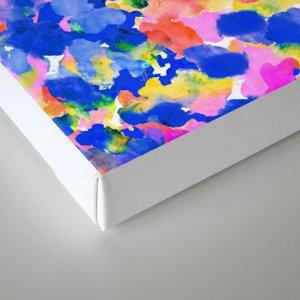 Floral splash Canvas Print