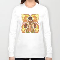70s Long Sleeve T-shirts featuring '70s Robot by Jim Nelson
