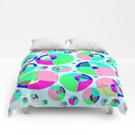 Bubble pink & green Comforters