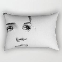 Emma Watson Minimal Drawing Rectangular Pillow