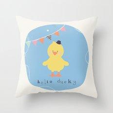 Dennis Duck Throw Pillow