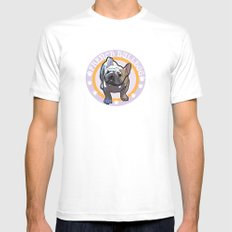 French bulldog White MEDIUM Mens Fitted Tee