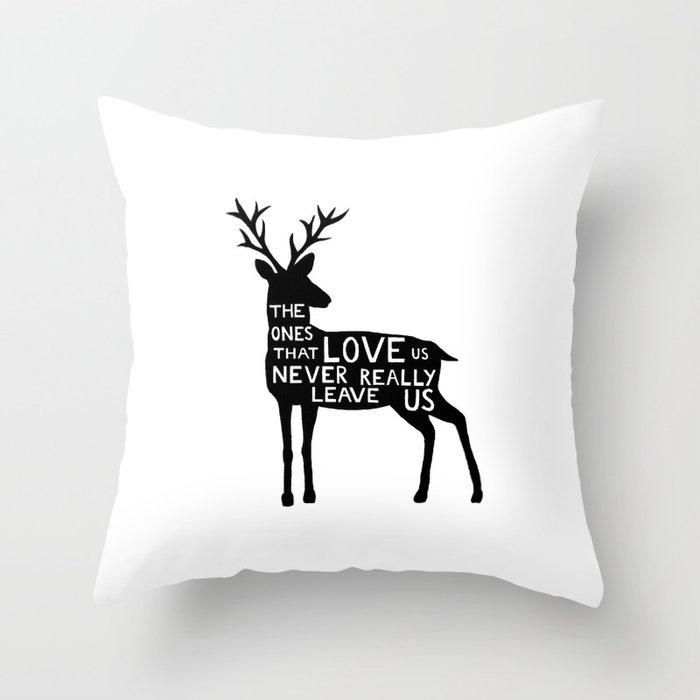 Sirius Black deer quote  Throw Pillow